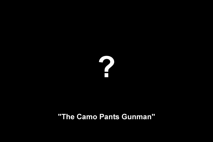 Image representing the unknown appearance of 'The Camo Pants Gunman'