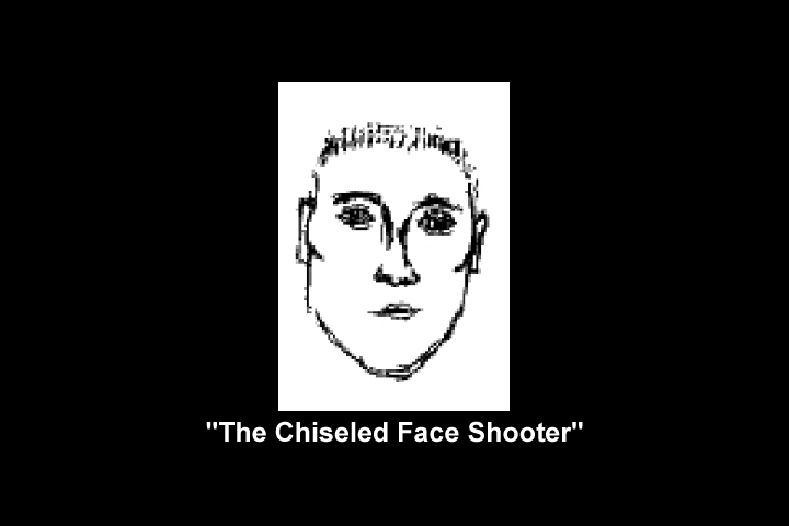 Image of Jennifer Smull's sketch of 'The Chiseled Face Shooter'