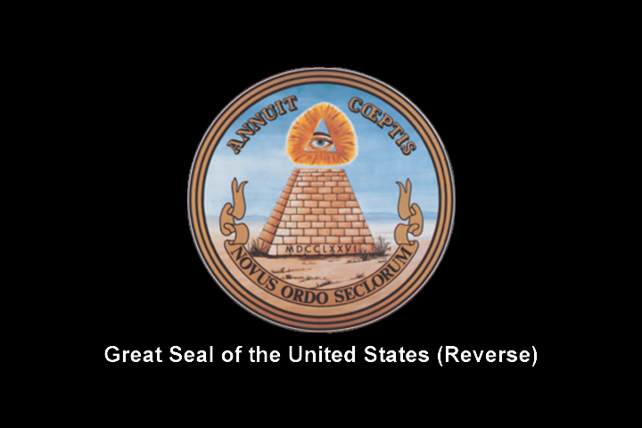 Image of the reverse side of the Free Masonic 'Great Seal of the United States'