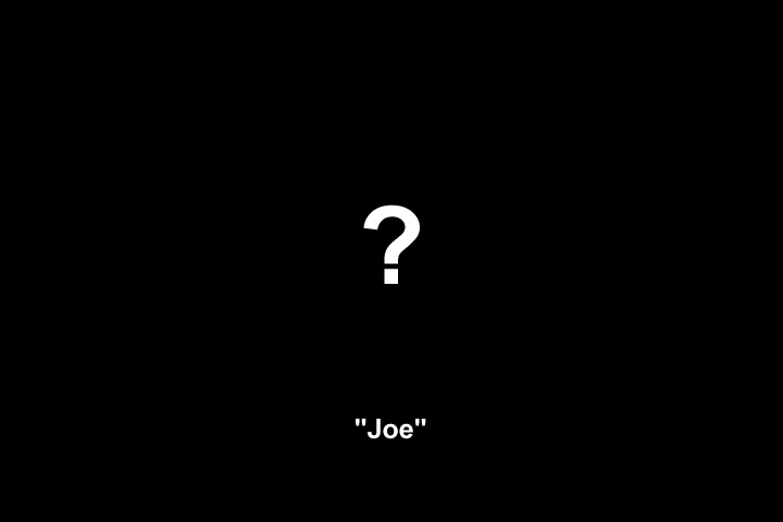 Image representing the unknown appearance of the shooter named 'Joe'